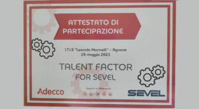 """""""Talent Factor for Sevel"""", L'ISTITUTO TECNICO conquista un meritato secondo posto"""